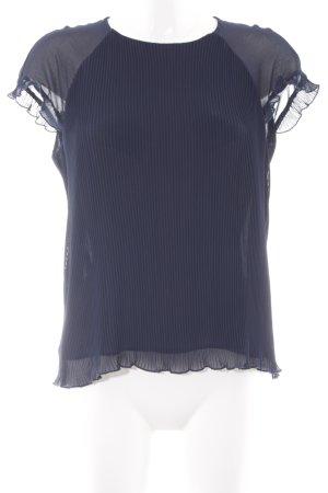 Zara Trafaluc Kurzarm-Bluse dunkelblau Elegant