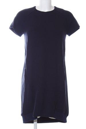 Zara Trafaluc Kurzarmkleid blau Business-Look