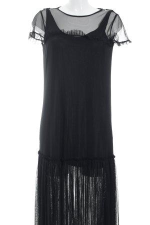 Zara Trafaluc Kurzarmkleid schwarz Casual-Look