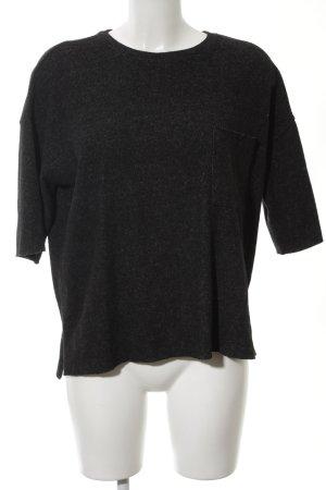 Zara Trafaluc Pull à manches courtes noir moucheté style décontracté