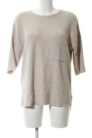 Zara Trafaluc Short Sleeve Sweater cream flecked casual look