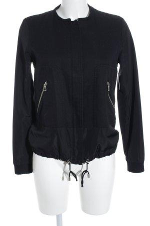 Zara Trafaluc Kurzjacke schwarz Materialmix-Look
