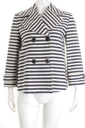 Zara Trafaluc Kurzjacke weiß-dunkelblau Streifenmuster Marine-Look