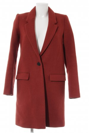 Zara Trafaluc Abrigo corto rojo ladrillo estilo «business»