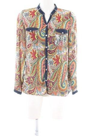 Zara Trafaluc Langarm-Bluse abstraktes Muster Casual-Look