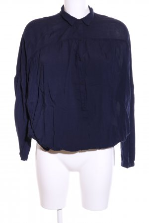 Zara Trafaluc Langarm-Bluse blau Business-Look