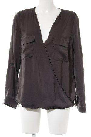 Zara Trafaluc Langarm-Bluse anthrazit Casual-Look