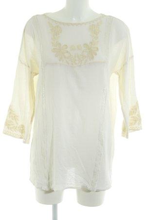 Zara Trafaluc Langarm-Bluse creme Boho-Look