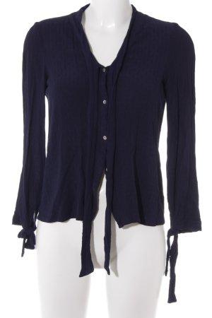 Zara Trafaluc Langarm-Bluse dunkelblau Business-Look