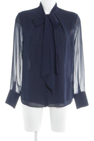 Zara Trafaluc Langarm-Bluse dunkelblau Casual-Look