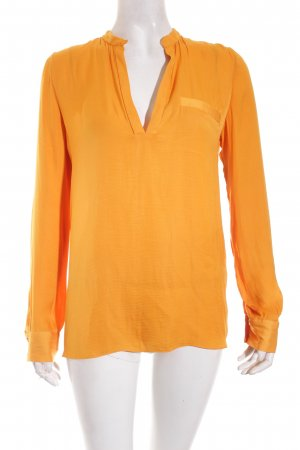 Zara Trafaluc Langarm-Bluse goldorange Business-Look