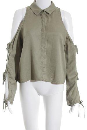 Zara Trafaluc Langarm-Bluse khaki Safari-Look