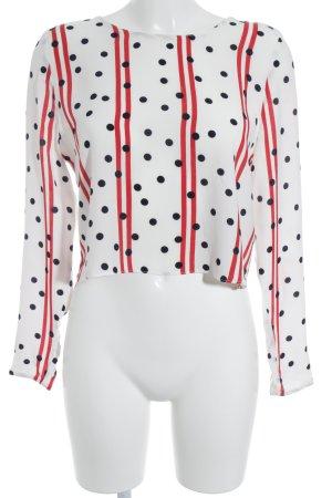 Zara Trafaluc Langarm-Bluse Punktemuster Street-Fashion-Look
