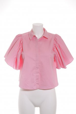 Zara Trafaluc Langarm-Bluse rosa Casual-Look