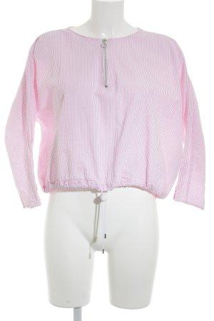 Zara Trafaluc Langarm-Bluse rosa-weiß Streifenmuster Casual-Look