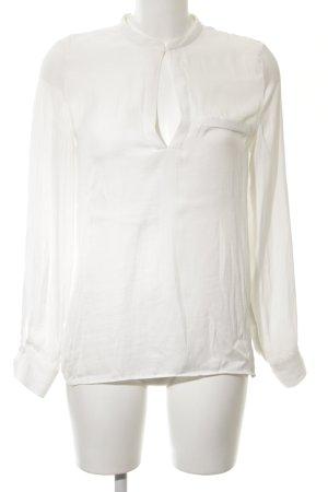 Zara Trafaluc Long Sleeve Blouse white business style