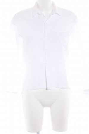 Zara Trafaluc Langarm-Bluse weiß Business-Look