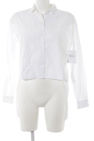 Zara Trafaluc Langarm-Bluse weiß extravaganter Stil