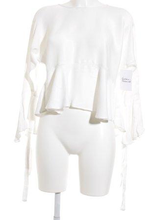 Zara Trafaluc Langarm-Bluse weiß Romantik-Look