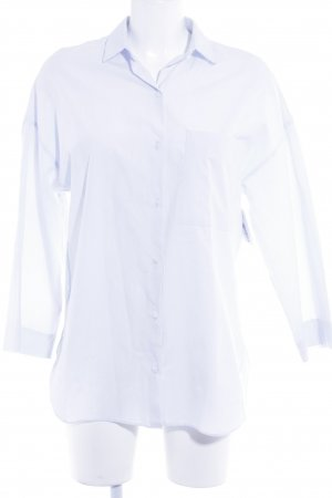 Zara Trafaluc Langarmhemd himmelblau Business-Look
