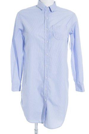 Zara Trafaluc Langarmhemd weiß-hellblau Streifenmuster schlichter Stil