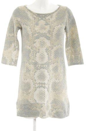 Zara Trafaluc Langarmkleid blassblau-graugrün Casual-Look