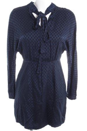 Zara Trafaluc Langarmkleid dunkelblau-schwarz Punktemuster Casual-Look