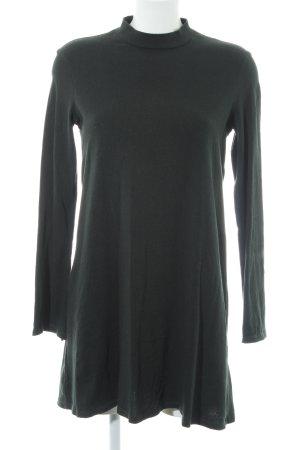 Zara Trafaluc Langarmkleid dunkelgrün Casual-Look