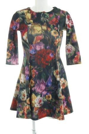 Zara Trafaluc Langarmkleid florales Muster Elegant