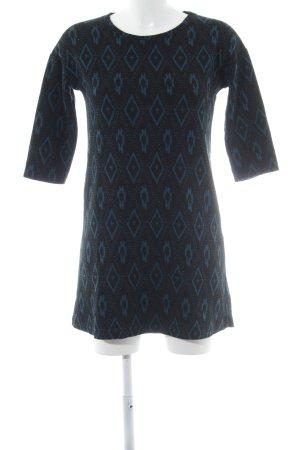 Zara Trafaluc Langarmkleid schwarz-kadettblau Mustermix schlichter Stil