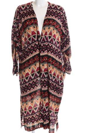 Zara Trafaluc Lange Jacke grafisches Muster Casual-Look