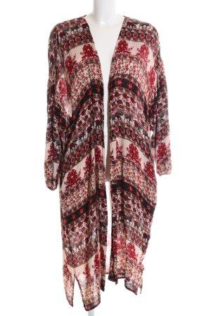 Zara Trafaluc Lange Jacke abstraktes Muster Casual-Look