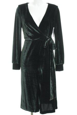 Zara Trafaluc Lange Jacke dunkelgrün Samt-Optik