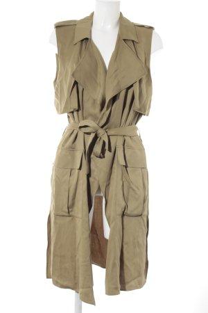 Zara Trafaluc Lange Jacke olivgrün Casual-Look