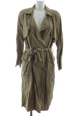 Zara Trafaluc Lange Jacke olivgrün Street-Fashion-Look