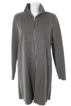 Zara Trafaluc Giacca lunga nero-grigio motivo a zig-zag stile casual
