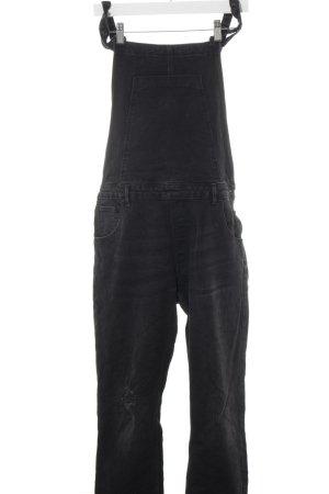 Zara Trafaluc Bib Denim black distressed style