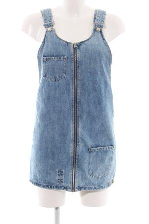 Zara Trafaluc Pinafore Overall Skirt blue simple style