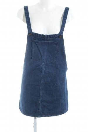 Zara Trafaluc Pinafore Overall Skirt blue casual look