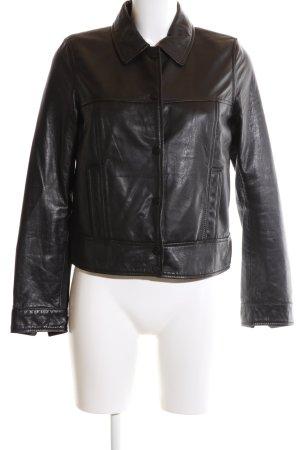 ac13b6e048 Zara Trafaluc Giacca in pelle nero stile casual