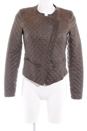 21a30a3eb4 Zara Trafaluc Giacca in pelle marrone-nero-ocra motivo a quadri stile  country
