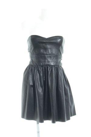 Zara Trafaluc Leather Dress black casual look
