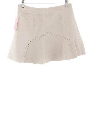 Zara Trafaluc Falda de cuero blanco puro look casual