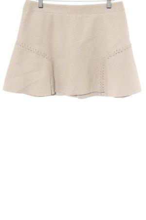 Zara Trafaluc Falda de cuero crema estilo gitano