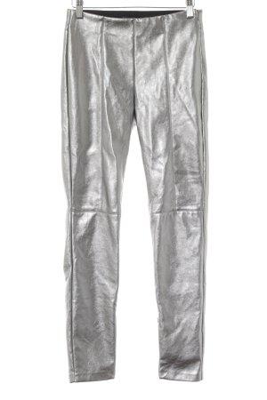 Zara Trafaluc Leggings silberfarben extravaganter Stil