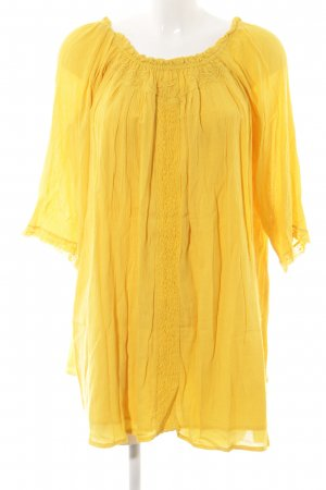 Zara Trafaluc Long Blouse gold orange casual look
