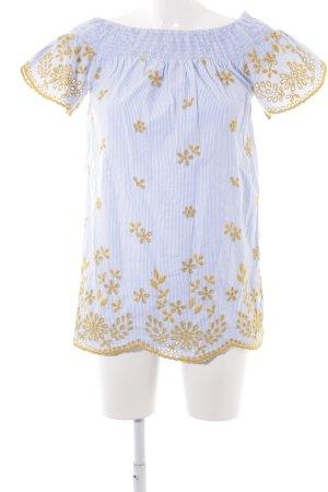 Zara Trafaluc Blouse longue motif rayé style romantique