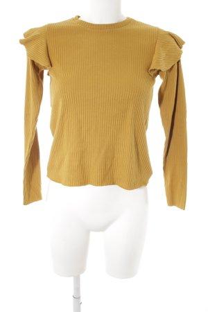 Zara Trafaluc Haut long orange doré style mode des rues