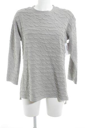 Zara Trafaluc Camisa larga gris claro estampado acolchado look casual