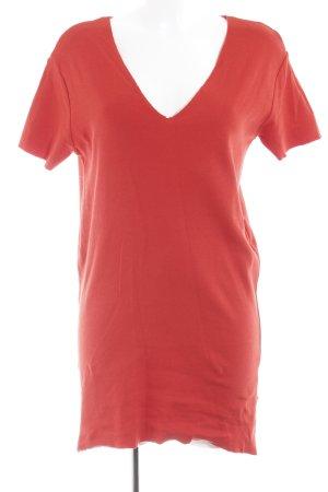 Zara Trafaluc Lang shirt rood straat-mode uitstraling